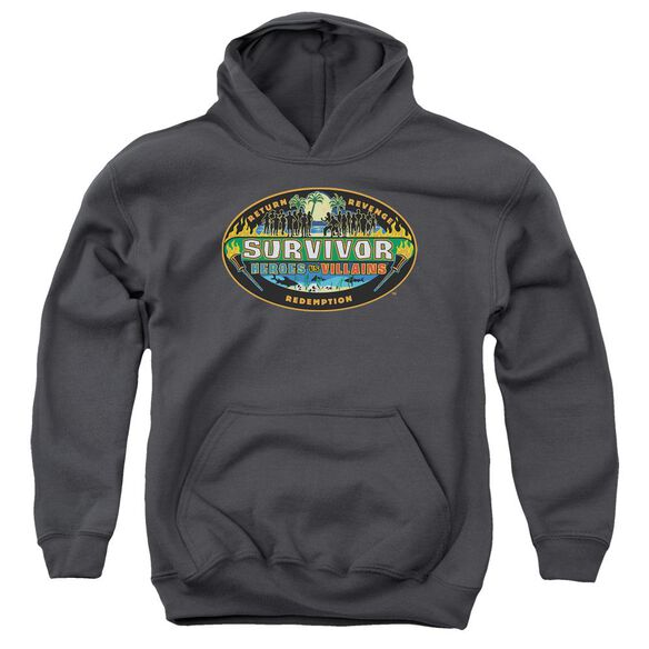 Survivor Heroes Vs Villains Youth Pull Over Hoodie