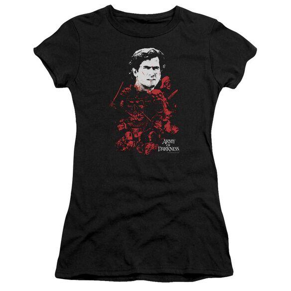 Army Of Darkness Pile Of Baddies Short Sleeve Junior Sheer T-Shirt