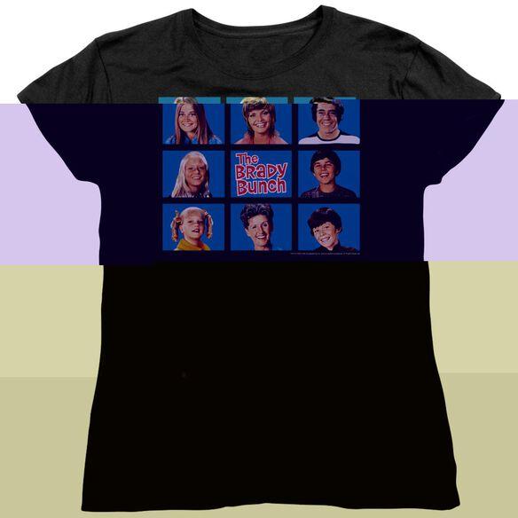 BRADY BUNCH FRAMED - S/S WOMENS TEE - BLACK T-Shirt