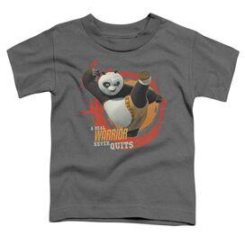 Kung Fu Panda Real Warrior Short Sleeve Toddler Tee Charcoal T-Shirt