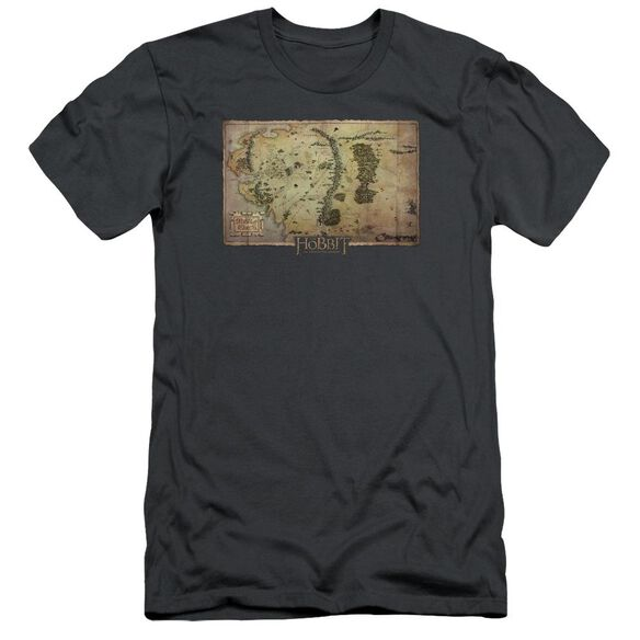 The Hobbit Middle Earth Map Short Sleeve Adult T-Shirt