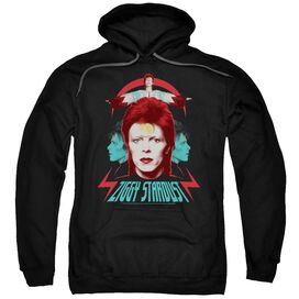David Bowie Ziggy Heads Adult Pull Over Hoodie