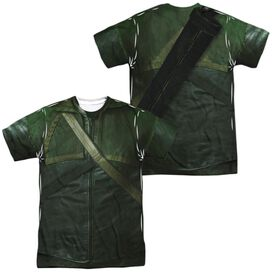 Arrow Uniform (Front Back Print) Short Sleeve Adult Poly Crew T-Shirt