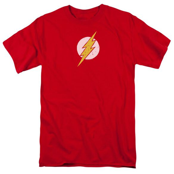 Jla Rough Flash Short Sleeve Adult T-Shirt