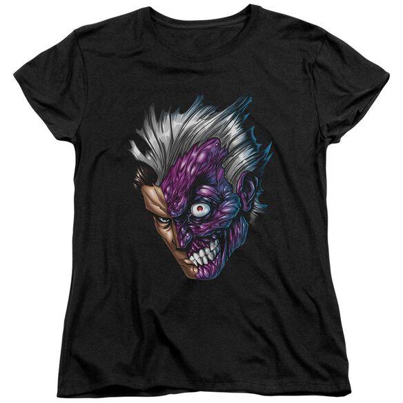 Batman Just Face Short Sleeve Womens Tee T-Shirt
