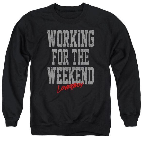 Loverboy Working Adult Crewneck Sweatshirt