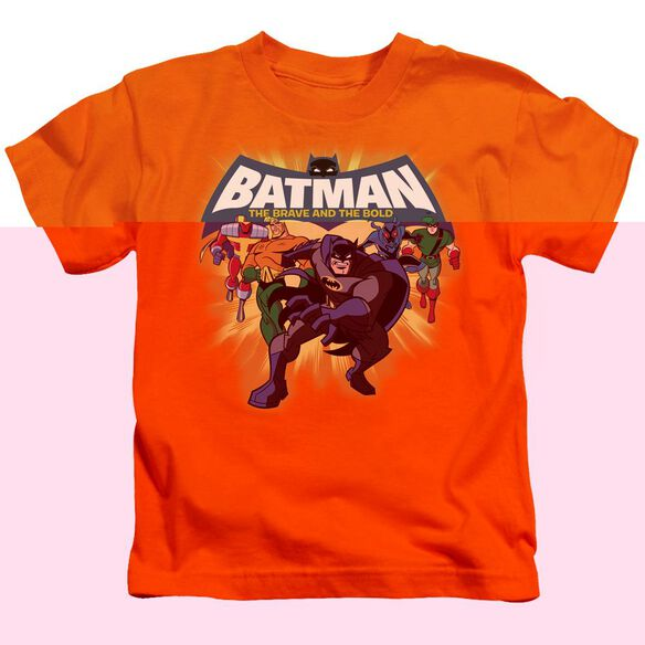 Batman Bb A Bold Force Short Sleeve Juvenile Orange T-Shirt