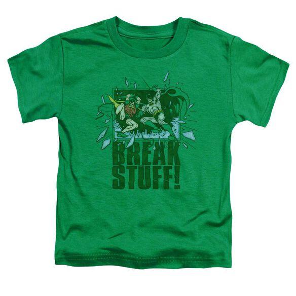 Dc Break Stuff Short Sleeve Toddler Tee Kelly Green Sm T-Shirt