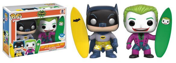 Exclusive Batman & Joker Surfs Up 2 Pack Funko Pop!