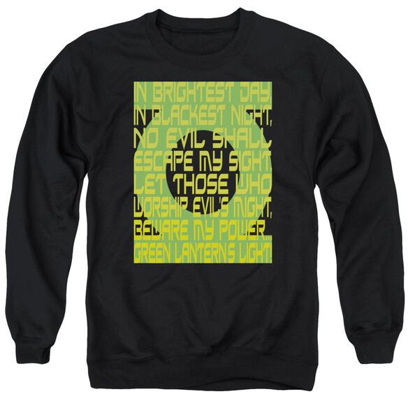 Green Lantern Green Lantern Oath Adult Crewneck Sweatshirt