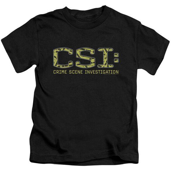 Csi Collage Logo Short Sleeve Juvenile Black T-Shirt