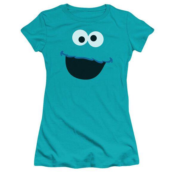 Sesame Street Cookie Monster Face Hbo Short Sleeve Junior Sheer T-Shirt