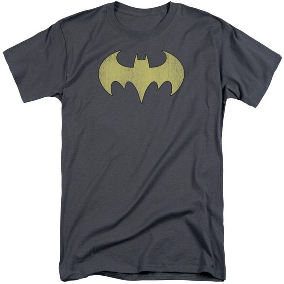 Dc Batgirl Logo Distressed Short Sleeve Adult Tall T-Shirt