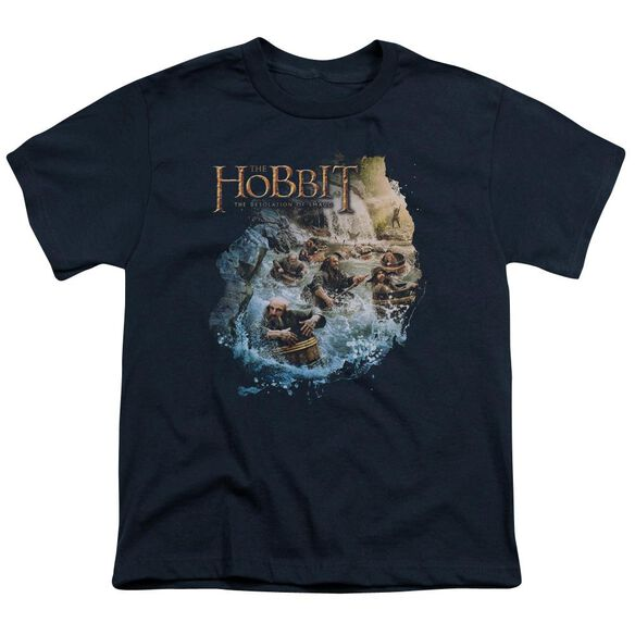 Hobbit Barreling Down Short Sleeve Youth T-Shirt