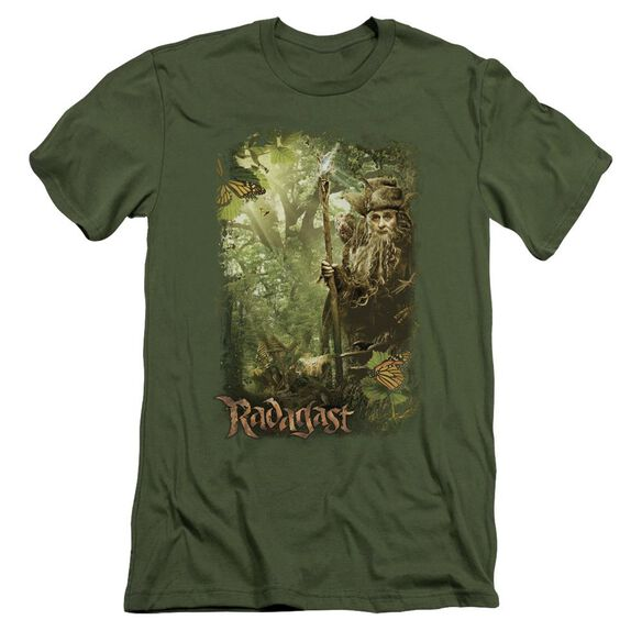 The Hobbit In The Woods Short Sleeve Adult Military T-Shirt