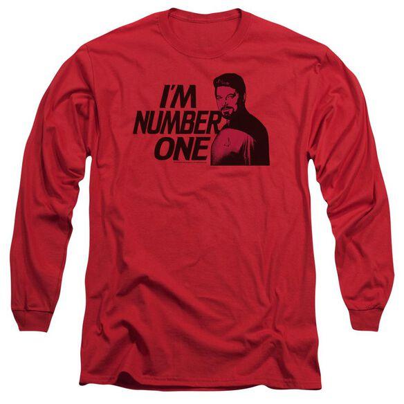 STAR TREK IM NUMBER ONE - L/S ADULT 18/1 - RED T-Shirt
