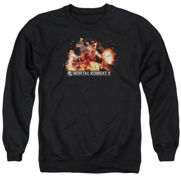 Mortal Kombat X Scorpio Flames Adult Crewneck Sweatshirt