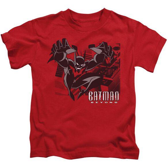 Batman Beyond City Jump Short Sleeve Juvenile Red T-Shirt