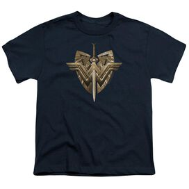Wonder Woman Movie Sword Emblem Short Sleeve Youth T-Shirt