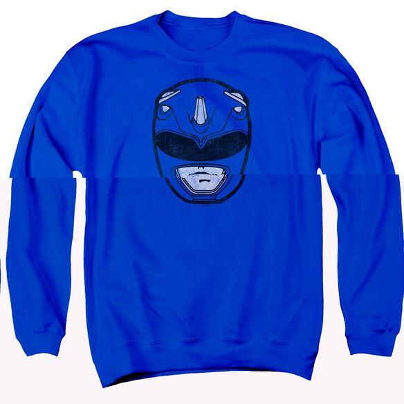 Power Rangers Ranger Mask Adult Crewneck Sweatshirt Royal