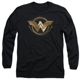 Wonder Woman Movie Lasso Logo Long Sleeve Adult T-Shirt