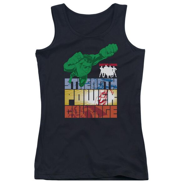 Jla Heroic Qualities Juniors Tank Top