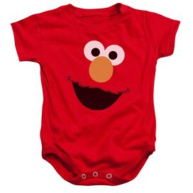 Sesame Street Elmo Face Infant Snapsuit Red