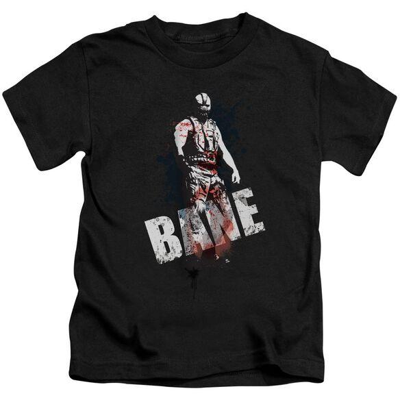 Dark Knight Rises Bane Splatter Short Sleeve Juvenile Black T-Shirt