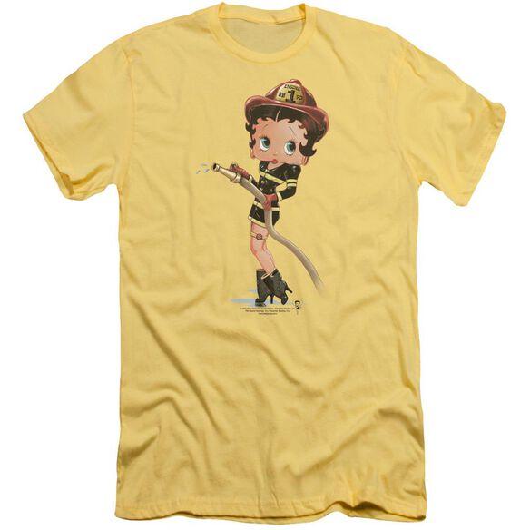 Betty Boop Firefighter Short Sleeve Adult T-Shirt