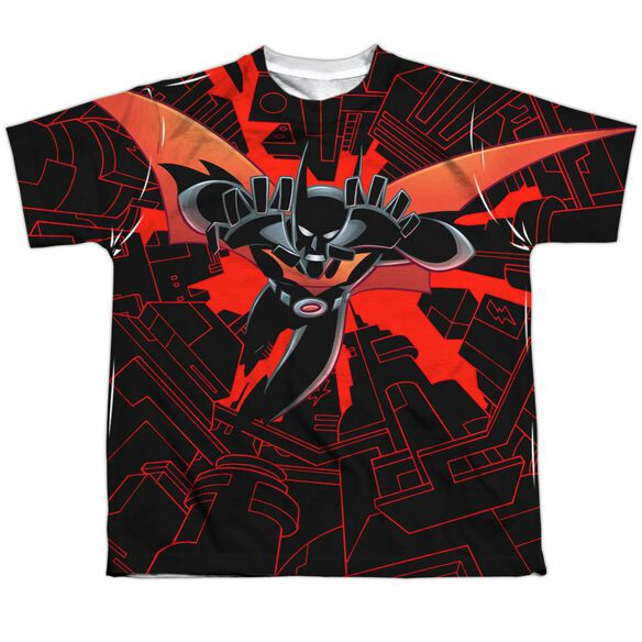 Batman Beyond Drop Down Short Sleeve Youth Poly Crew T-Shirt