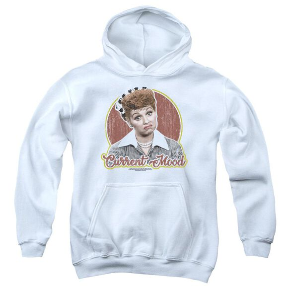 I Love Lucy Current Mood Youth Pull Over Hoodie