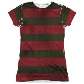 Nightmare On Elm Street Freddy Sweater Short Sleeve Junior Poly Crew T-Shirt
