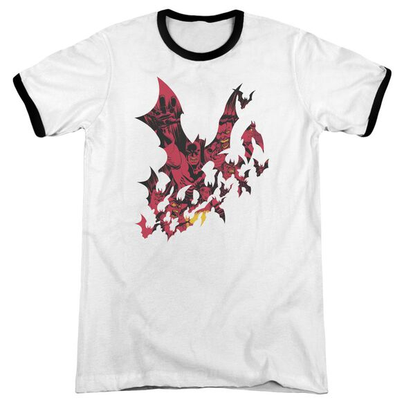 Batman Broken City Adult Ringer White Black