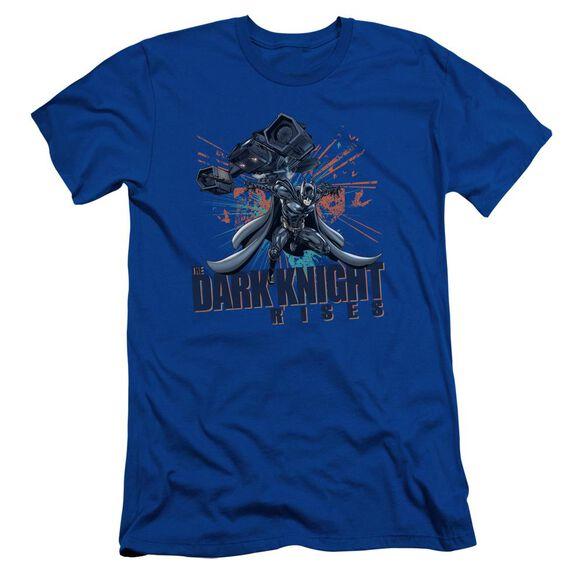 Dark Knight Rises Batwing Short Sleeve Adult Royal T-Shirt