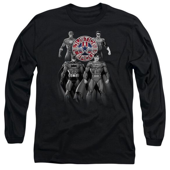 Jla Shades Of Gray Long Sleeve Adult T-Shirt