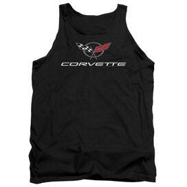 Chevrolet Corvette Modern Emblem Adult Tank