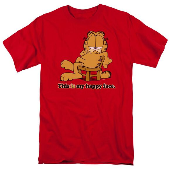 Garfield Happy Face Short Sleeve Adult T-Shirt