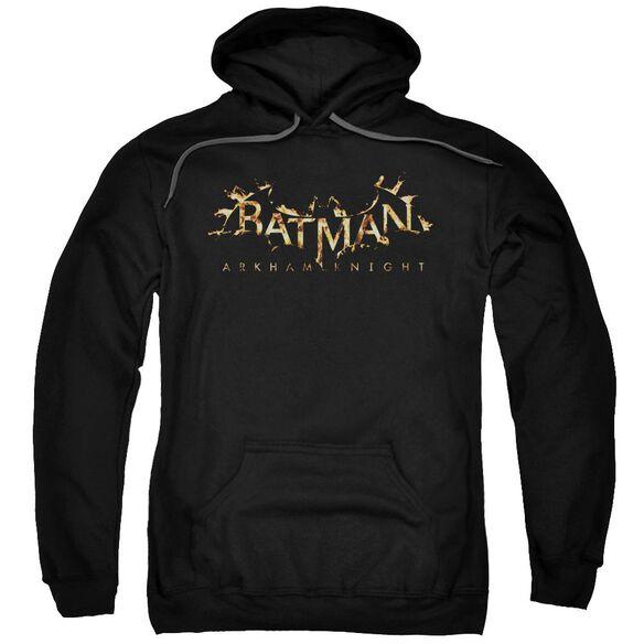 Batman Arkham Knight Ak Flame Logo Adult Pull Over Hoodie