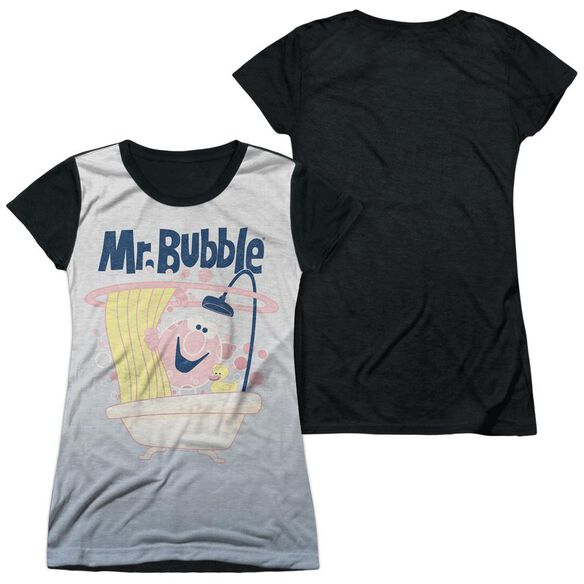 Mr Bubble Tub Love Short Sleeve Junior Poly Black Back T-Shirt