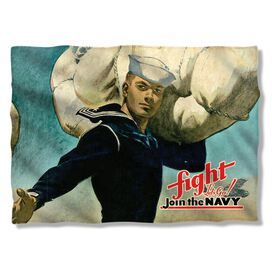 Navy Fight Lets Go Pillow Case
