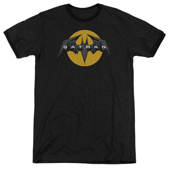 Batman Unlimited Tech Logo Adult Heather Ringer
