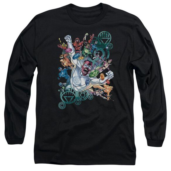 GREEN LANTERN LANTERNS UNITE - L/S ADULT 18/1 - BLACK T-Shirt