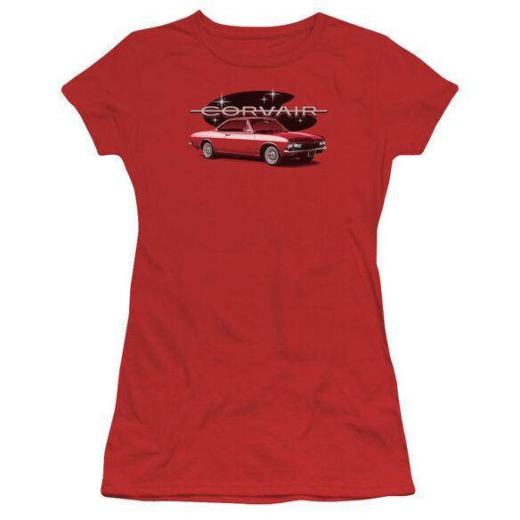 Chevrolet 65 Corvair Mona Spyda Coupe Short Sleeve Junior Sheer T-Shirt