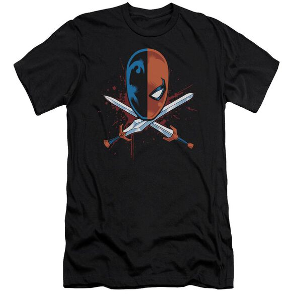 Jla Crossed Swords Short Sleeve Adult T-Shirt