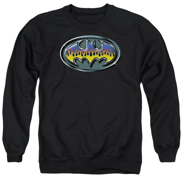 Batman Hot Rod Shield Adult Crewneck Sweatshirt