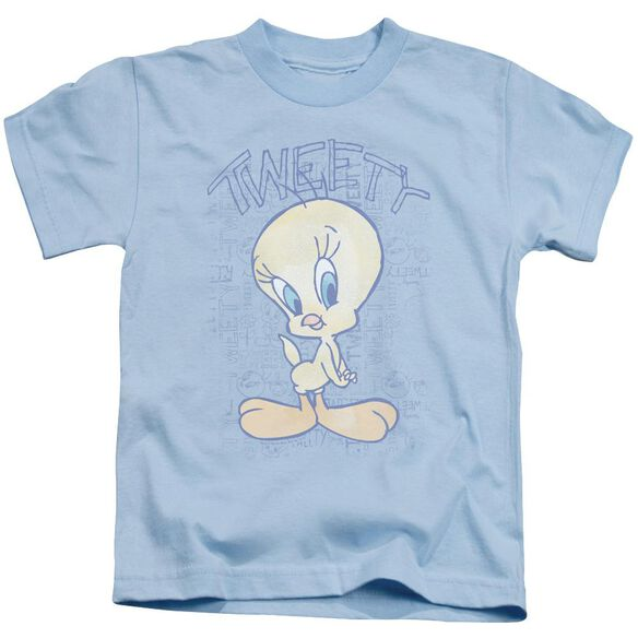 Looney Tunes Tweety Fade Short Sleeve Juvenile Light T-Shirt