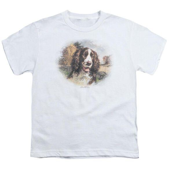 Wildlife Springer Spaniel Head Short Sleeve Youth T-Shirt