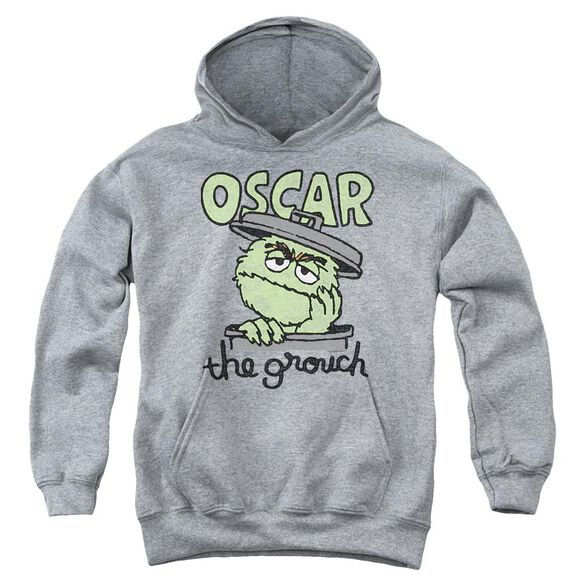 Sesame Street Canned Grouch Youth Pull Over Hoodie Athletic