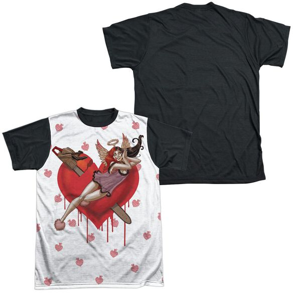 Batman Vroom Short Sleeve Adult Front Black Back T-Shirt