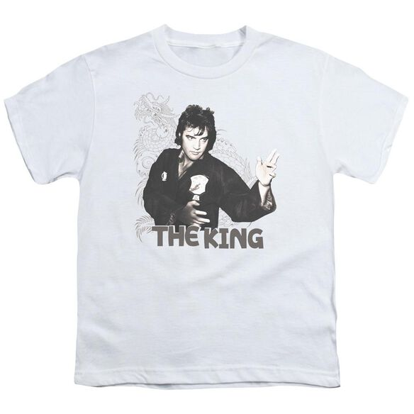Elvis Fighting King Short Sleeve Youth T-Shirt